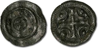 Ancient Coins - Hungary - Husz. 100 - Anonymous Denar, 12th century - crude F