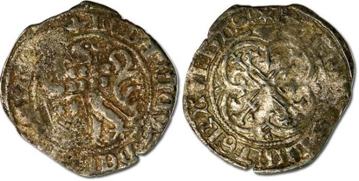 Ancient Coins - Hesse - Ludwig II, 1458-1471 - Zweischilder Groschen - VG