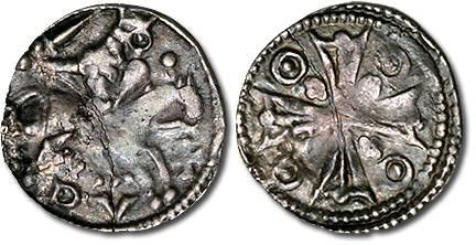 Ancient Coins - Brabant - Denier au Cavalier, Henri I, 1210-1235 - VF+