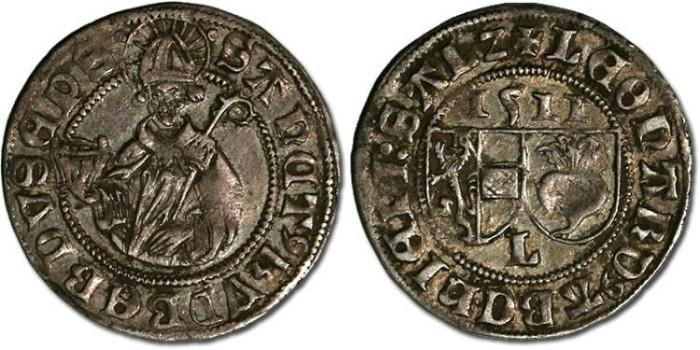 Ancient Coins - Salzburg, Archbishopric, Leonhard von Keutschach, 1495-1519 - Batzen 1511 - VF+