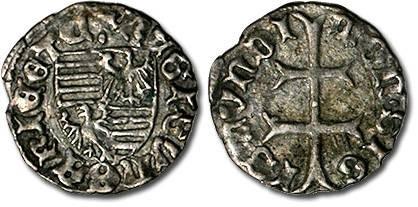 Ancient Coins - Hungary - Husz. 576 - Denar (MM: ·), F+