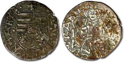 Ancient Coins - Hungary - Husz. 722 - Denar, VG
