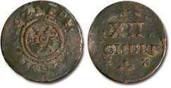 World Coins - Erfurt - 12 Scherf 1621 - F+
