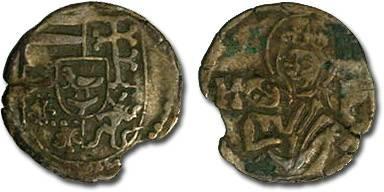 Ancient Coins - Hungary - Matthias Corvinus, 1458-1490 - Obolus (MM: K-P) - VG, broken rim