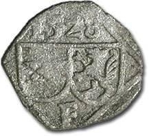 World Coins - Austria, Styria, Ferdinand I, 1521-1564 - Uniface Pfennig 1528 - F