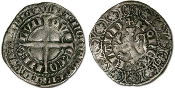 Ancient Coins - Flanders - Groot de Leeuw (Lion Groat), Louis de Male, 1346-1364 - VF