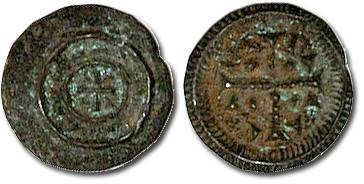 Ancient Coins - Hungary - Husz. 076 - Anonymous Denar, 12th century - crude F, patina