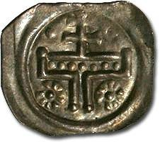Ancient Coins - Hungary - Anonymous Bracteate 13th c. - XF, very handsome