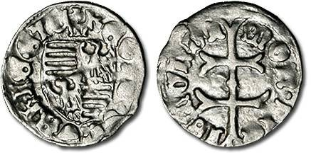 Ancient Coins - Hungary - Husz. 576 - Denar (MM: m), VG+