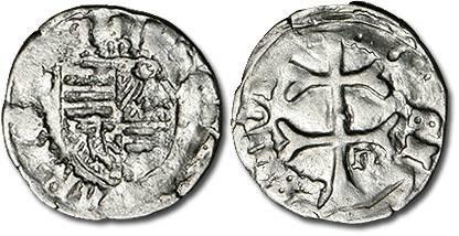 Ancient Coins - Hungary - Husz. 576 - Denar (MM: m-n), VG