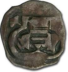 World Coins - Austria - Albrecht V, 1404-1406 - Pfennig, Vienna mint - crude VG