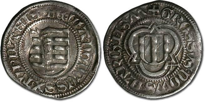 Ancient Coins - Saxony, Ernst, Albrecht, and Wilhelm III, 1465-1482 - Spitzgroschen 1477 - VF+