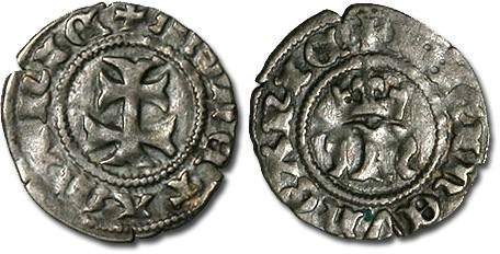 Ancient Coins - Hungary - Maria, 1385-1395 - Denar - F