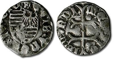Ancient Coins - Hungary - Husz. 576 - Denar (MM: k), F