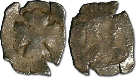 Ancient Coins - Austria - Albrecht II, 1330-1358 - Imitation Halbling - crude VG