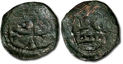World Coins - Hungary - Husz. 586 - Quarting (MM C-rev.C), crude VG