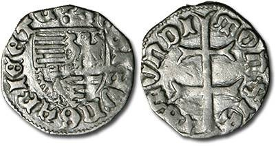 Ancient Coins - Hungary - Husz. 576 - Denar (MM: ·), F+