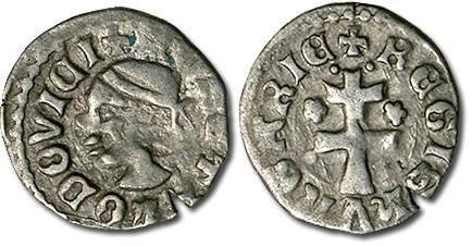 Ancient Coins - Hungary - Husz. 547 - Denar (MM *-*), VF