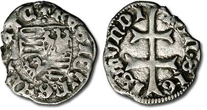 Ancient Coins - Hungary - Husz. 576 - Denar (MM: ·), F