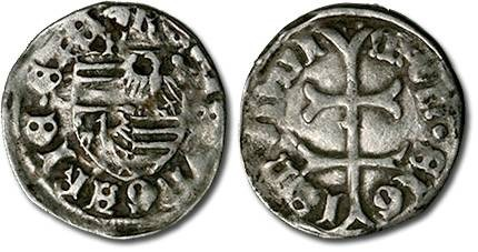 Ancient Coins - Hungary - Husz. 576 - Denar (MM: k), F