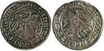 World Coins - Brandenburg - Joachim I and Albrecht, 1499-1515 - Groschen 1504 - F