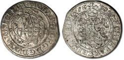 World Coins - Saxony - 1/24 Thaler (Groschen) 1630 HI - VF+