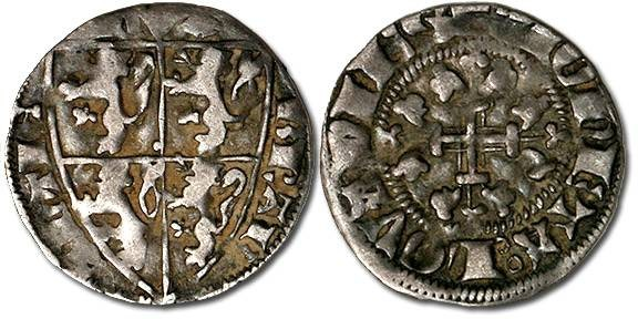 Ancient Coins - Brabant - Esterlin, Jean III, 1312-1355 - F