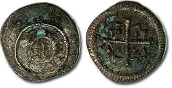 Ancient Coins - Hungary - Husz. 076 - Anonymous Denar, 12th century - crude F, patina
