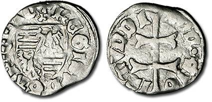 Ancient Coins - Hungary - Husz. 576 - Denar (MM: tripoint), VG