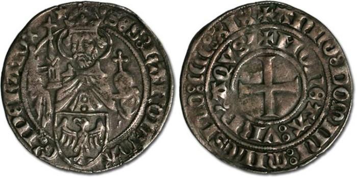 Ancient Coins - Aachen - Groschen 1419 - VF