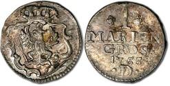 World Coins - East Friesland - 1 Marien Groschen 1755D - VF+