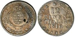 World Coins - Saxony - 1/12 Thaler 1810 SGH - XF