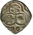 World Coins - Salzburg - 2 Pfennig 1596, uniface Zweier - VF+, full date