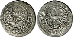 World Coins - Lithuania - ½ Groschen 1523? - F, weak areas