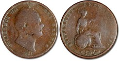 World Coins - Great Britain - 1/2 Penny 1831 - VG