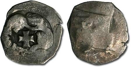 Ancient Coins - Austria - Ottokar II, 1251-1276 - Pfennig, Vienna mint - crude VG