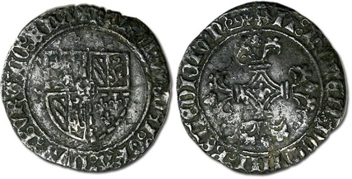 Ancient Coins - Flanders - Double Stuyver, Charles-le-Temeraire, 1467-1477 - F, corroded