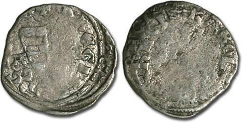 World Coins - Hungary - Karl Robert, 1307-1342 - Denar (MM: A-A) - G, interesting double strike