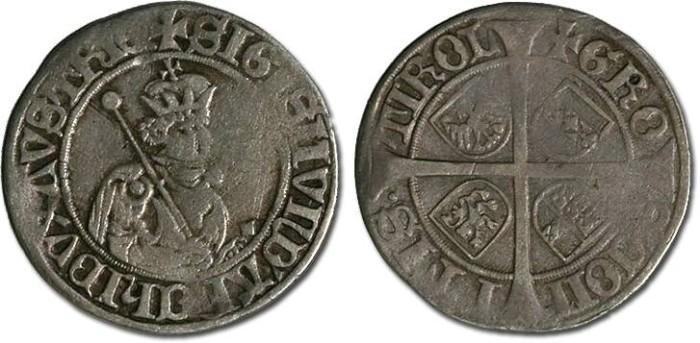 World Coins - Tirol, Hall - Erzherzog Sigismund - Sechser - VG