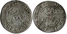 World Coins - Brandenburg - Joachim I and Albrecht, 1499-1515 - Groschen 1504 - VG, cleaned