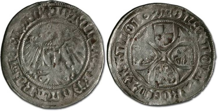 World Coins - Brandenburg - Joachim I and Albrecht, 1499-1515 - Groschen 1504 - VG, cleaned