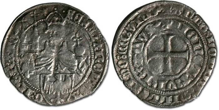 Ancient Coins - Aachen - Groschen 1411 - F