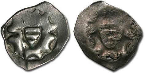 World Coins - Austria - Albrecht II, 1330-1358 - Pfennig, Wiener Neustadt mint - crude VF