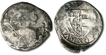 Ancient Coins - Hungary - Husz. 481 - Parvus, 1307-1342 Karl Robert, crude F