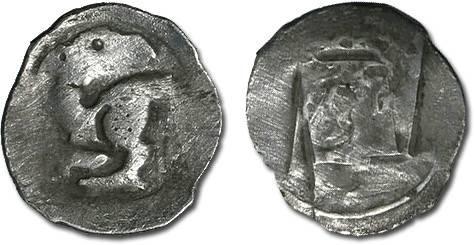 Ancient Coins - Austria - Frederick the Handsome, 1314-1330 - Pfennig, Vienna mint - crude VG