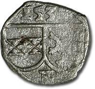 World Coins - Austria, Styria, Ferdinand I, 1521-1564 - Uniface Pfennig 153? - F