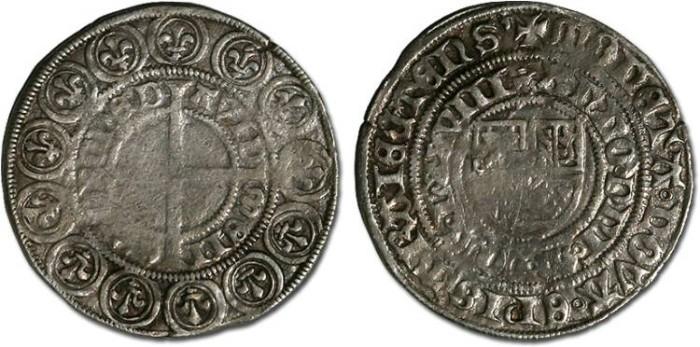 Ancient Coins - Utrecht, Bishopric, David of Burgundy, 1455-1496 - Jager 1478 - VF, weak areas
