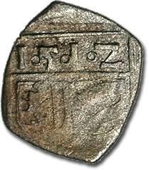 World Coins - Glatz, Ulrich von Hardegg, 1500-1522 - Uniface Pfennig 1512 - F, bold date, RARE