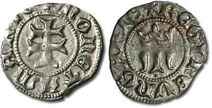 Ancient Coins - Hungary - Maria, 1385-1395 - Denar - XF
