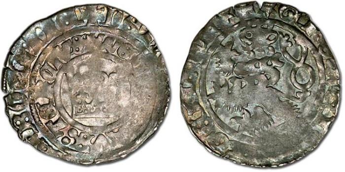 Ancient Coins - Bohemia - Wenceslas IV, 1378-1419 - Prager Groschen - Crude F